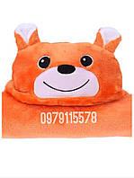 Уголок плед детский конверт для детей с капюшоном  Мишка 76*102