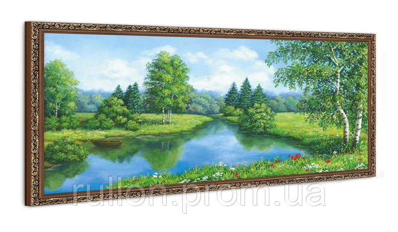 """Картина YS-Art FA021B """"Лодка на воде"""" 50x100"""