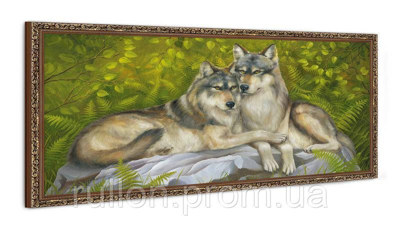 """Картина YS-Art FA022B """"Два волка"""" 50x100"""