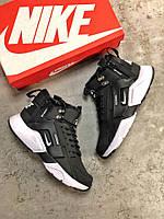 Женские Зимние Кроссовки Nike Huarache x Acronym City Winter BW (Реплика Люкс)