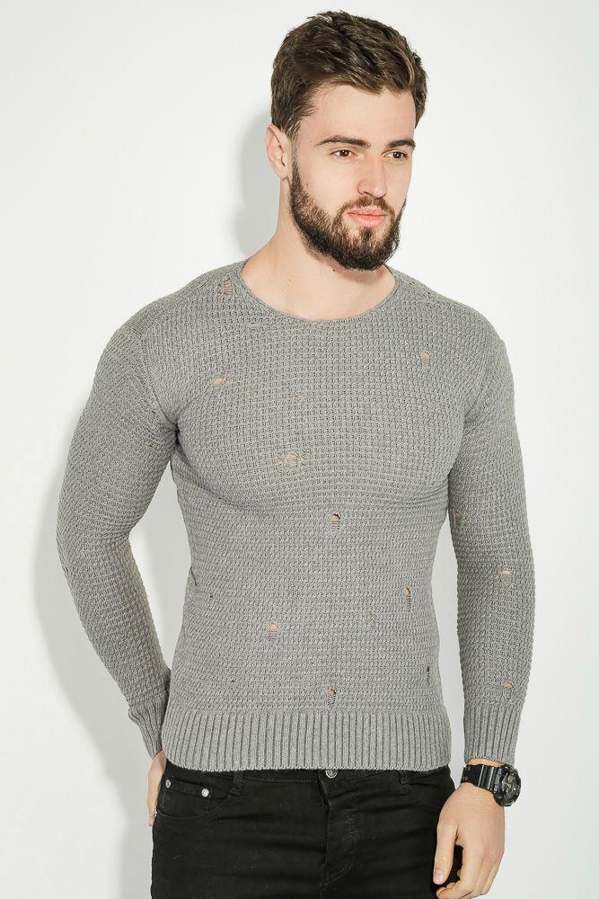 Джемпер мужской в стиле Casual (светло серый)