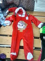 Новогодний костюм человечек в виде Санты(Санта Клауса) тепленький,махровый,3 размера ,56-60;62-68;70-74, фото 1