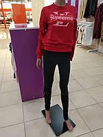 Свитшот красный, модный. ткань двунитка. размер универсал
