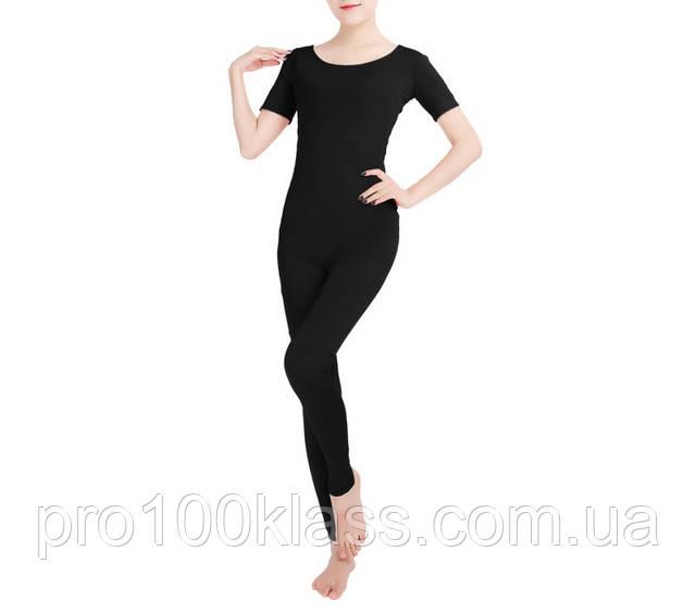 Комбинезон для гимнастики с коротким рукавом