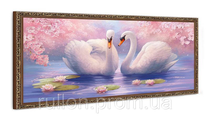 "Картина YS-Art FA051B ""Два лебедя"" 50x100"