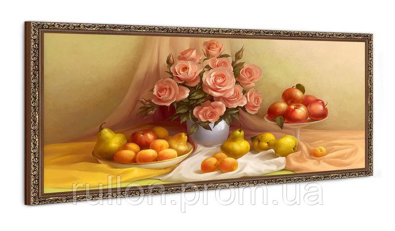 """Картина YS-Art FA073B """"Цветы в вазе и фрукты"""" 50x100"""