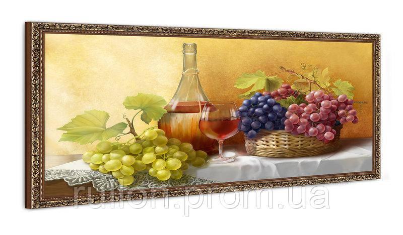 """Картина YS-Art FA074B """"Вино и виноград"""" 50x100"""