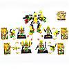 Конструктор 887-02, 3в1, фигурка, на подставке, карточка, 4 вида, в кор-ке, 8-14, 5-4см