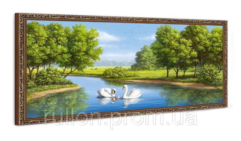 "Картина YS-Art FA566B ""Лебеди на воде"" 50x100"