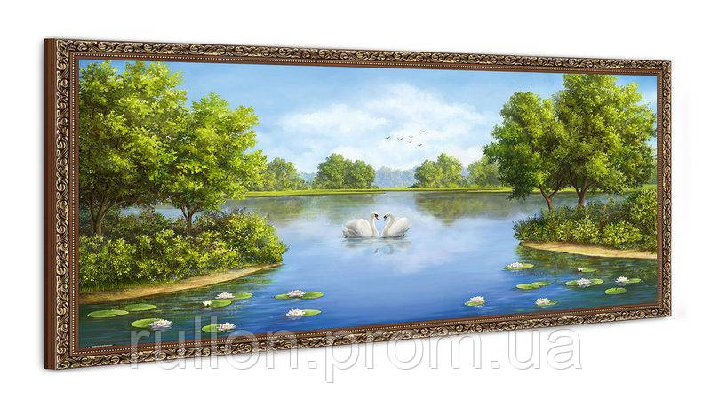 "Картина YS-Art FA567B ""Лебеди на воде 2"" 50x100"