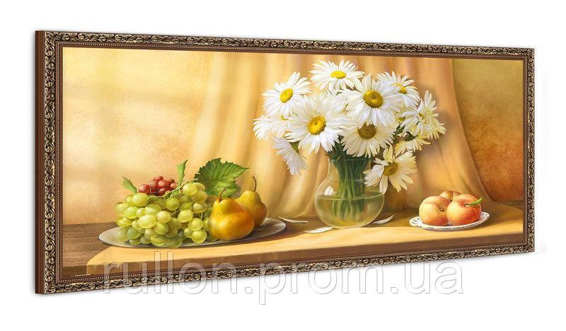 "Картина YS-Art FA584B ""Ромашки в вазе и фрукты"" 50x100"