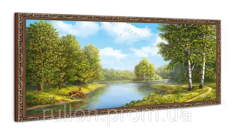 """Картина YS-Art FA588B """"Раскидистая река в лесу"""" 50x100"""