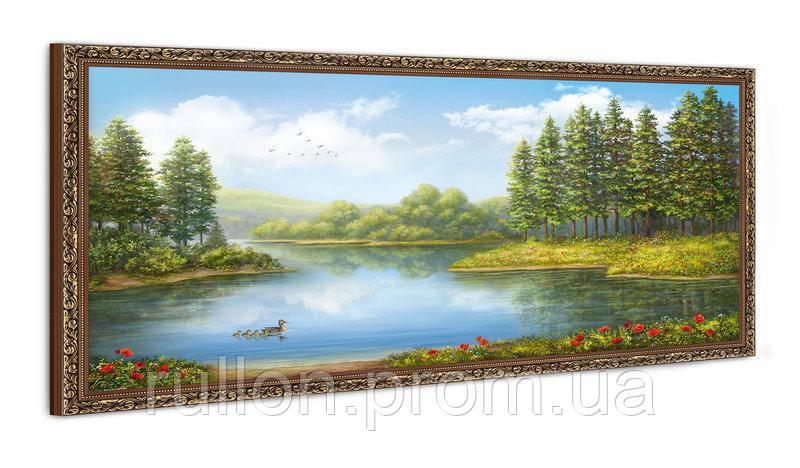 """Картина YS-Art FA591B """"Утки на воде"""" 50x100"""