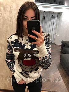 """Женский вязаный свитер без горла """"Улыбка""""  10 цветов"""