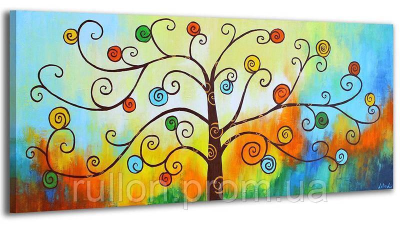 "Картина на холсте YS-Art RRH039 ""Абстракция, дерево"" 50x100"