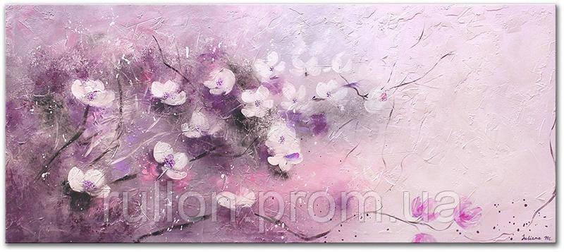 "Картина на холсте YS-Art RRH041 ""Цветы"" 50x100"