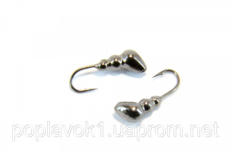 Мормышка вольфрамовая Fishing ROI Муравей с отверстием (чёрный никель) 3mm
