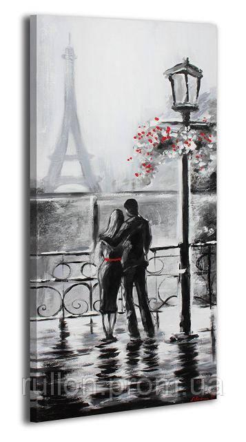 """Картина на холсте YS-Art RRH085 """"Мужчина и женщина в Париже"""" 50x100"""