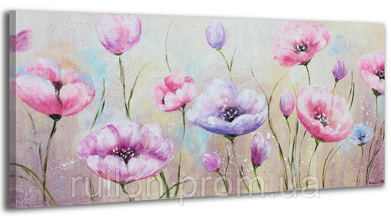 "Картина на холсте YS-Art RRH097 ""Цветы 3"" 50x100"