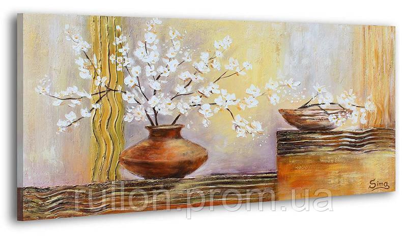 "Картина на холсте YS-Art RRH132 ""Цветы в вазе 2"" 50x100"