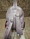 Женский рюкзак искусств кожа качество с двойная пайетка городской спортивный стильный опт, фото 4
