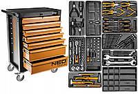 Шкаф мастерской с аксессуарами 128шт. Neo 84-222 + G