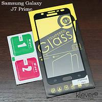 Защитное стекло для Samsung Galaxy J7 Prime (black silk)
