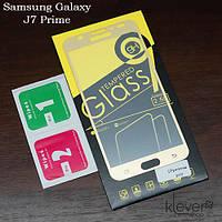 Защитное стекло для Samsung Galaxy J7 Prime (gold silk)