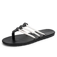 c15deb66 Мужские летние повседневные тапочки Lazy Beach Flip Flops Плоские легкие  куртки на кулере Pinch Foot Shoes