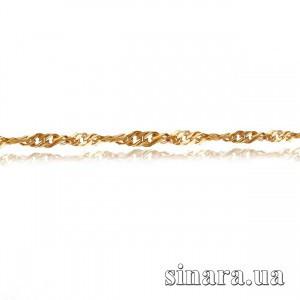 Золотая цепочка Сингапур с алмазной насечкой 19407