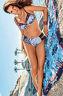 Большой купальник с плотной чашкой Amarea 19174 48 Голубой Amarea 19174