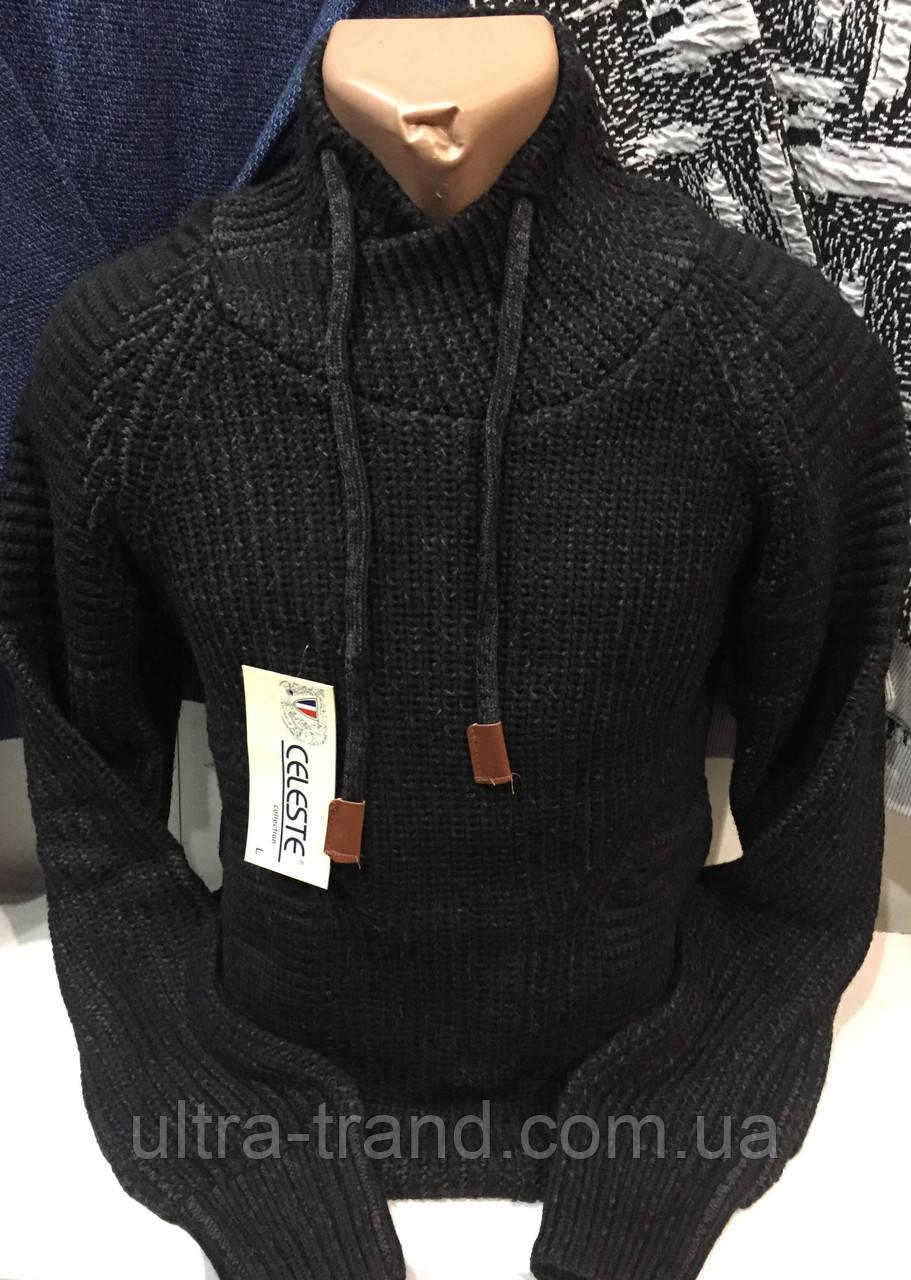 Тёплые турецкие мужские шерстяные свитера