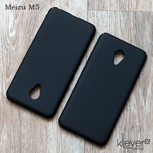Пластиковый чехол-накладка для Meizu M5 (черный)