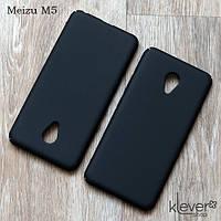 Пластиковый чехол-накладка для Meizu M5 (черный), фото 1