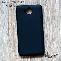 Силиконовый чехол накладка Candy для Huawei Y5 2017 (MYA-U29) (черный)