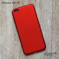 Пластиковый чехол накладка для Xiaomi Mi 5C (красный)