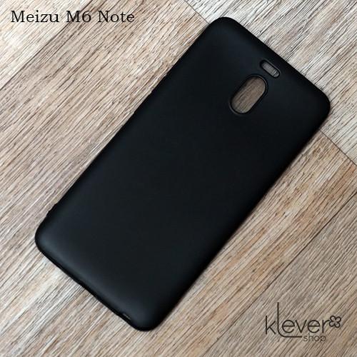 Ультратонкий силиконовый чехол накладка Candy для Meizu M6 Note (черный)