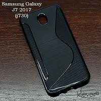 Силиконовый чехол накладка для Samsung Galaxy J7 2017 (j730) (черный)
