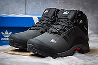 Мужские зимние ботинки на меху Adidas Climaproof, темно-серые (Артикул : SS-30502)