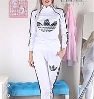Белый с черным женский костюм Adidas 42-50 S-XL Адидас CAVALIERI