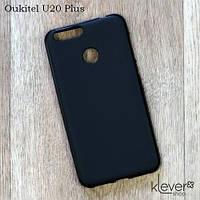 Силиконовый чехол накладка для Oukitel U20 Plus (черный)