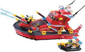 Детский конструктор Brick Пожарный катер 906 340 деталей 10-99-906, КОД: 285460