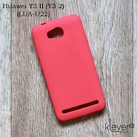 Силиконовый чехол накладка Candy для Huawei Y3 II (LUA-U22) (лососевый)