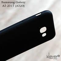 Ультратонкий силиконовый чехол накладка Candy для Samsung Galaxy A5 2017 (a520f) (черный), фото 1