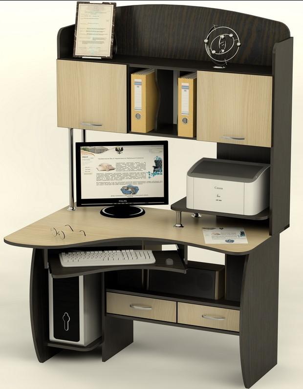 """Компьютерный стол """"Латина"""" ― оригинальная, компактная модель."""