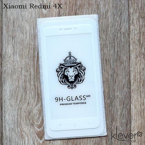 Защитное стекло 2,5D для Xiaomi Redmi Note 4X, Note 4 Global (white)(клеится всей поверхностью (5D))