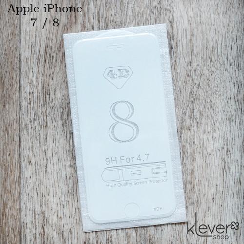Защитное 4D стекло для Apple iPhone 8 (white)