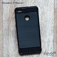 TPU чехол накладка для Huawei P Smart (fig-lx1) (black carbon), фото 1