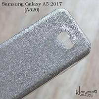 TPU чехол накладка Elysian Rain для Samsung Galaxy A5 2017 (A520) (серебристый)