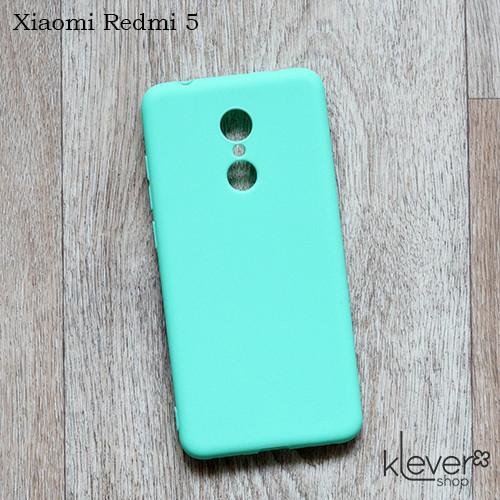 Силиконовый чехол накладка Candy для Xiaomi Redmi 5 (мятный)